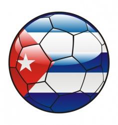 cuba flag on soccer ball vector image vector image