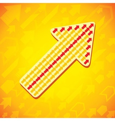 Yellow arrow background vector image vector image