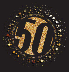 50th birthday logo vector