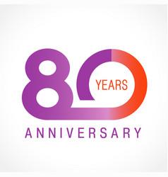 80 anniversary classic logo vector