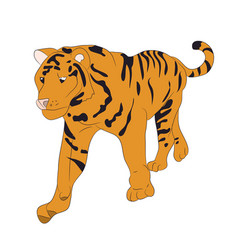 A tiger that stands drawing vector