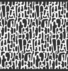 abstract black and white pattern with shapes vector image