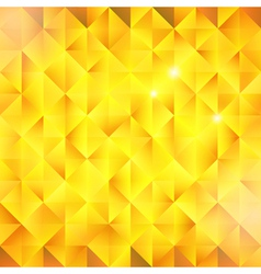 Abstract golden triangular background vector