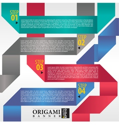 Abstract origami banner EPS 10 vector