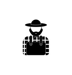avatar of the farmer iconelement of popular vector image