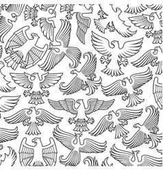 background pattern with heraldic eagles vector image