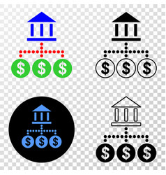 bank hierarchy eps icon with contour vector image