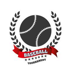 Baseball club emblem icon vector