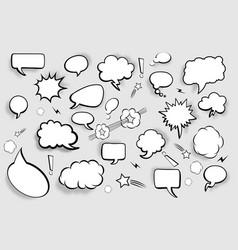 blank speech bubbles set of comic speech bubbles vector image
