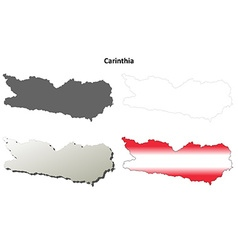 Carinthia blank detailed outline map set vector