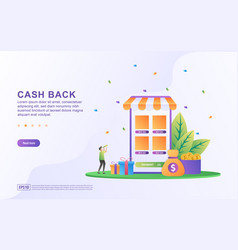 Cash back concept design people getting cash vector