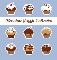 Chocolate Muffin Collection vector image