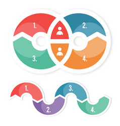 circle colored infographic vector image