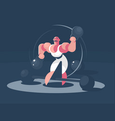 Circus athlete strongman vector