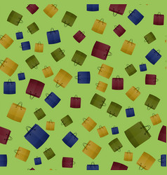 Colorful shopping paper bag seamless pattern vector