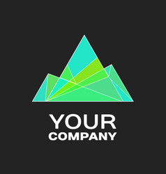 company logo ice mountain vector image