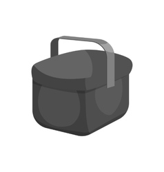 Cooler bag icon black monochrome style vector