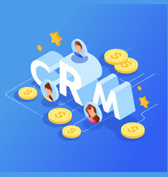 customer relationship management crm concept vector image
