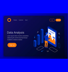 Data analysis isometric concept vector