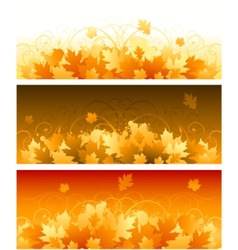decorative swirling autumn design vector image