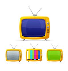 different tv with color screen display set vector image