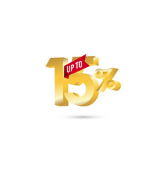 Discount up to 15 template design vector