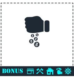 Donation icon flat vector