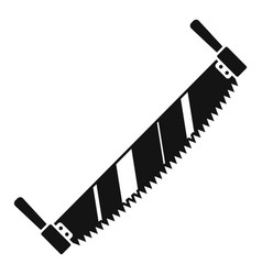 Double hand saw icon simple style vector