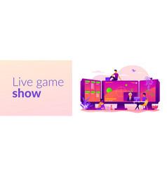 E-sport game streaming web banner concept vector