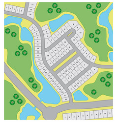 fictitious cadastral plan vector image