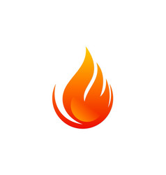 fire flame abstract logo vector image