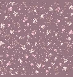 Floral seamless pattern ornamental flowers summer vector