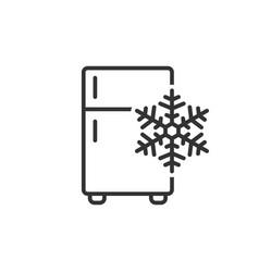 Fridge refrigerator icon in flat style freezer vector