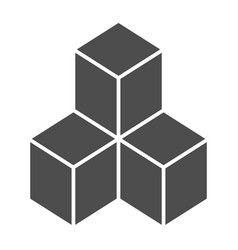 Geometric cubes solid icon solution vector