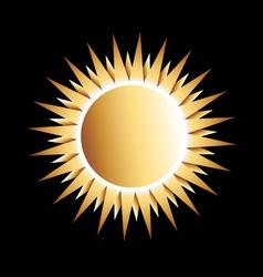 Gold Sun Logo vector image
