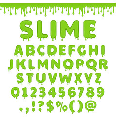 Green slime alphabet vector