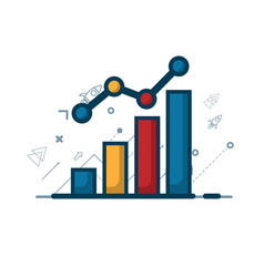Growth graph with growth arrow business concept vector