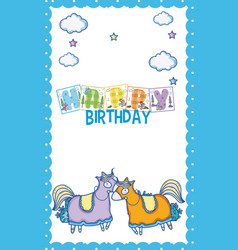 happy birthday card for little boy vector image