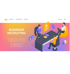 human resources specialists recruiting employee vector image