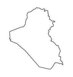 iraq map of black contour curves on white vector image