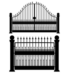 Iron Gate Silhouette vector image