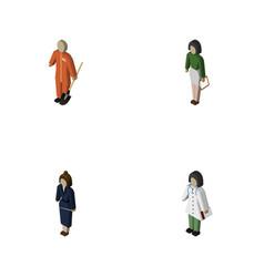 isometric people set of businesswoman pedagogue vector image