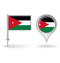 Jordan pin icon and map pointer flag vector