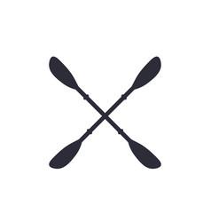 Kayak paddles on white vector