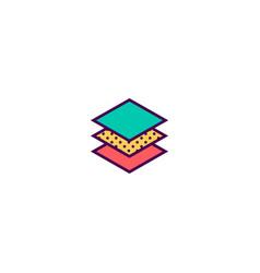 layers icon design essential icon design vector image