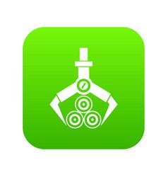 log loader icon digital green vector image