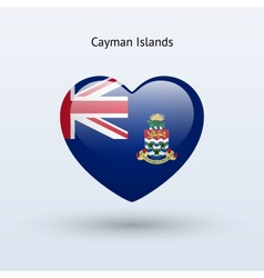 Love Cayman Islands symbol Heart flag icon vector