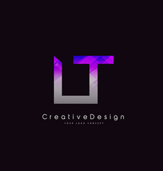 Lt l t letter logo design creative icon modern vector