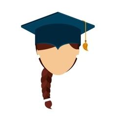 man graduation graduated icon vector image