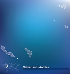 Map of Netherlands Antilles vector image